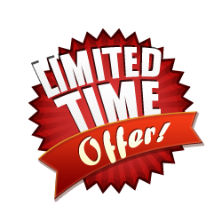 Limited Time Offer - Burst Badge Red
