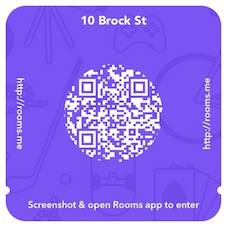 Facebook example QR code for Rooms
