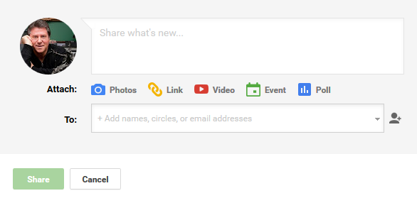 Google+ Collection Share