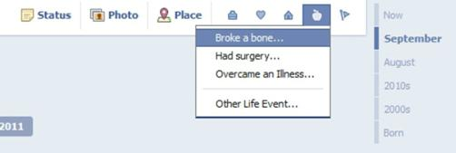 Facebook Timeline Health
