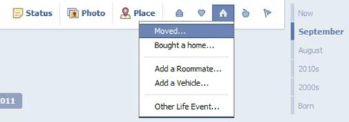 Facebook Timeline Living