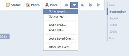Facebook Timeline Relationships