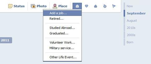 Facebook Timeline Work and Education