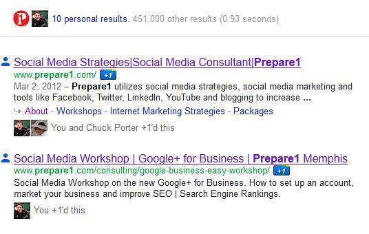 Google+ Live Search