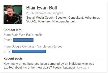 Google+ Profile | Blair Evan Ball | Prepare1 | Social Media Coach