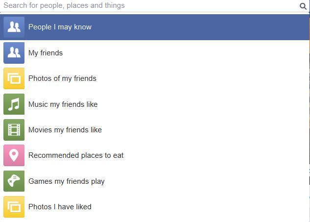 Facebook Search Query
