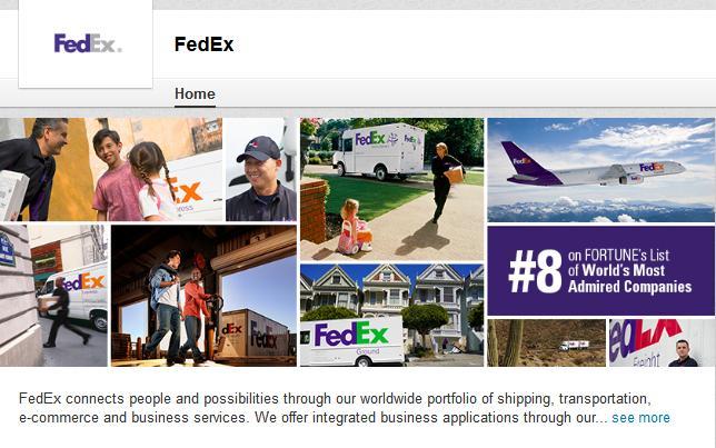 FedEx Showcase Page
