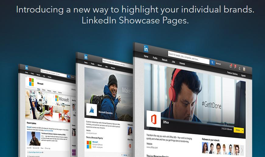 LinkedIn Showcase Pages