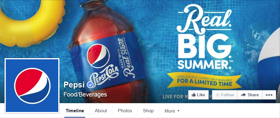Pepsi Facebook Timeline Photo