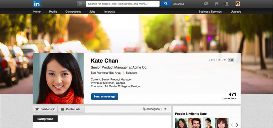 LinkedIn New Profile Design