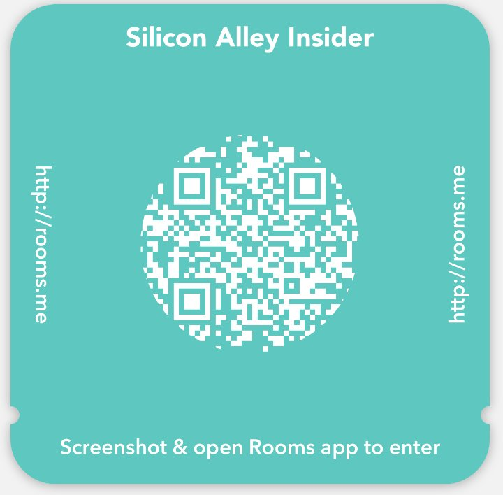 Facebook example QR code for Rooms I