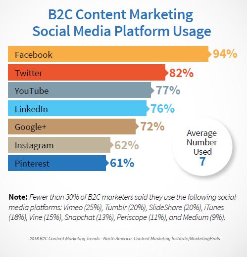 B2C Social Media Platform Usage