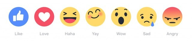 Facebook New Like Emoji's