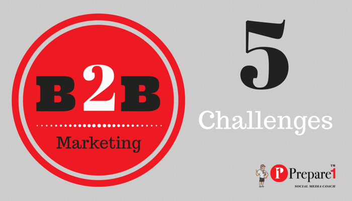 5 Challenges of B2B Marketer.Prepare1 Image