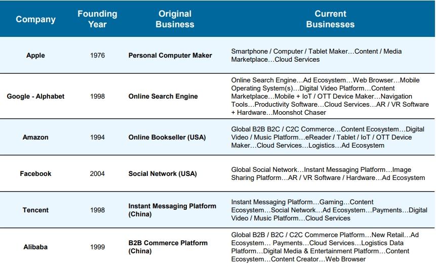 Internet Companies Growth